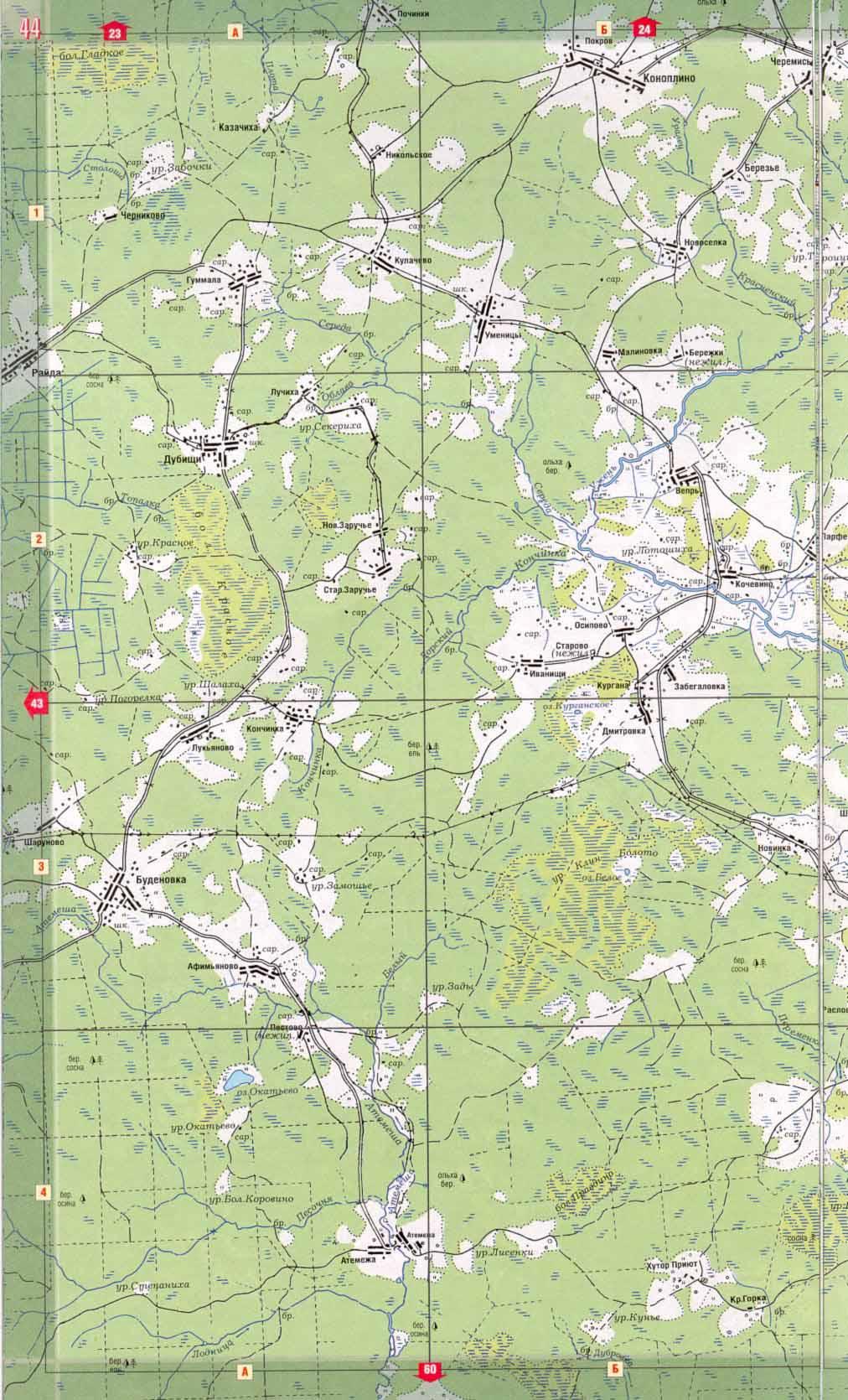 карта тверской области 44 года представить себе